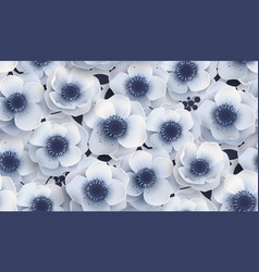 seamless pattern with flowers anemones vector image