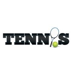 Tennis Word Art vector image vector image