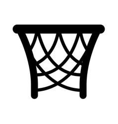 basket basketball isolated icon vector image vector image
