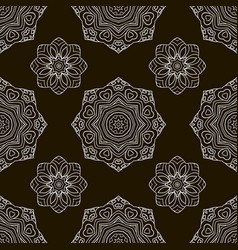 black and white seamless pattern ethnic ornament vector image