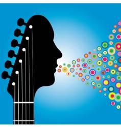 guitar headstock man vector image vector image