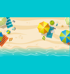 Seamless beach resort with colorful beach vector
