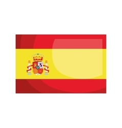 Spanish flag isolated icon design vector image vector image