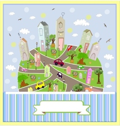 Spring sunny town vector image vector image