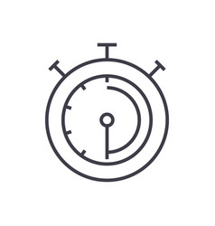 timerstopwatchclock line icon sign vector image