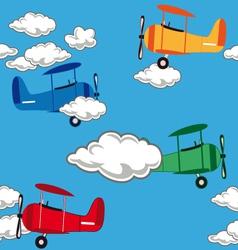 airplanepattern vector image vector image