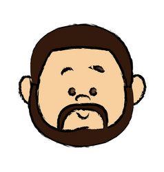 Man people icon avatar adult person face viewed vector