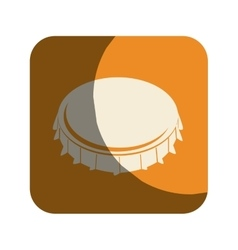 metal cap drink isolated icon vector image vector image