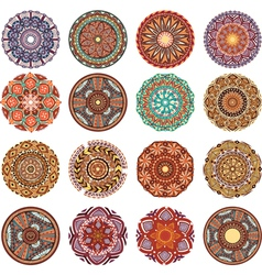 Round Ornament Pattern collection vector image vector image