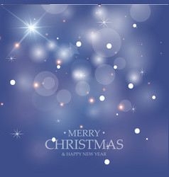 blue christmas background christmas decorations vector image vector image