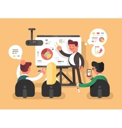 Business report presentation vector image vector image