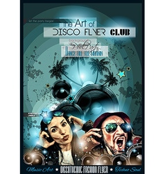Club Disco Flyer Set with DJs and Colorful vector image vector image