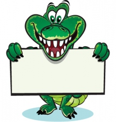 cute crocodile mascot vector image
