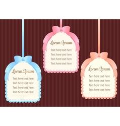 cute pastel colorful ribbon text dialog box or vector image vector image