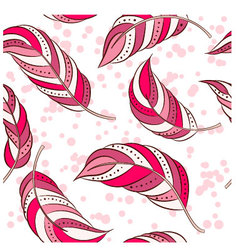 Feathers-pink vector image vector image