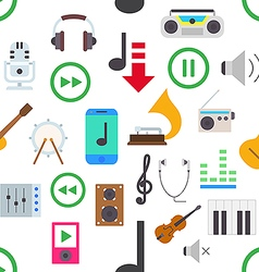 Music pattern stickers vector image vector image
