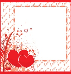 postcard to valentines day vector image vector image