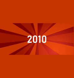 2010 new year shine revolution red color bright vector image