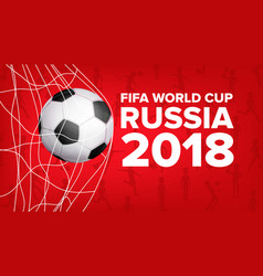 2018 fifa world cup banner russia event vector image