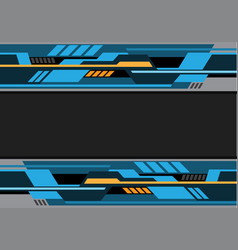 Abstract blue black yellow futuristic technology vector