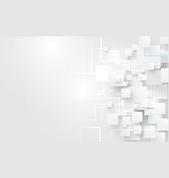 abstract white squares and lines background vector image