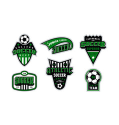 badges set soccer tournament vector image