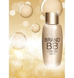 BB Cream Bottle Template for Ads or Magazine vector