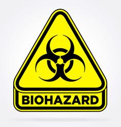 Biohazard quarantine zone symbol yellow triangle vector