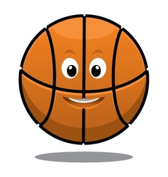Bouncing happy brown basketball ball vector