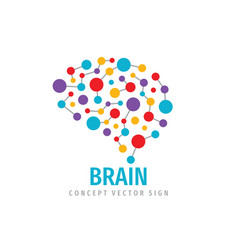 brain - business concept logo template vector image
