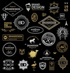 Brand design elements industrial style vector