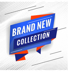 Brand new collection promotional concept template vector