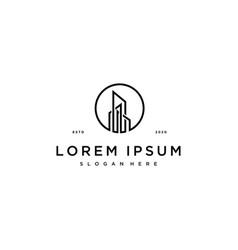 Building logo design concept vector