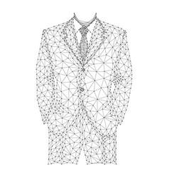 businessman in business dress suit jacket vector image