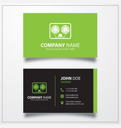 Cassette icon business card template vector