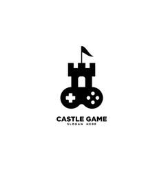 Castle game logo template vector
