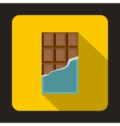 Chocolate bar icon flat style vector image