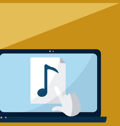 click on music archive vector image