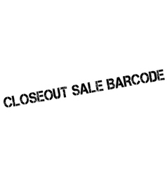 Closeout Sale Barcode rubber stamp vector