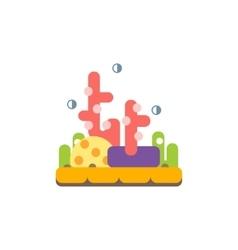 Coral Reef Primitive Style Childish Sticker vector