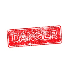 danger red grunge rubber stamp vector image