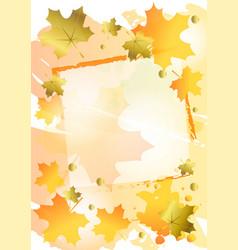 Decorative autumn background in orange decorated vector