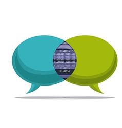 Digital communication design vector