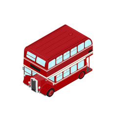 double decker vector image