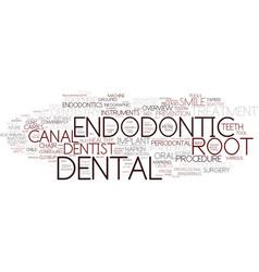 Endodontic word cloud concept vector