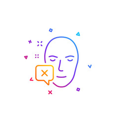 Face declined line icon human profile sign vector