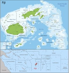 Fiji map vector image