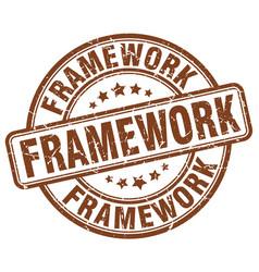 Framework brown grunge stamp vector