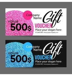 Gift Card Design with Gold Glitter Texture vector