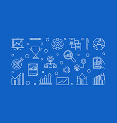 growth company horizontal concept line vector image